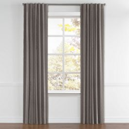 Dark Taupe Dotted Stripe Back Tab Curtains Close Up