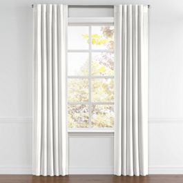 Ivory Linen Back Tab Curtains Close Up