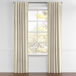 Beige Linen Back Tab Curtains Close Up