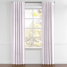 Light Purple Linen Back Tab Curtains Close Up