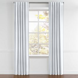 Pale Blue Linen Back Tab Curtains Close Up