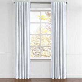 Pale Aqua Linen Back Tab Curtains Close Up