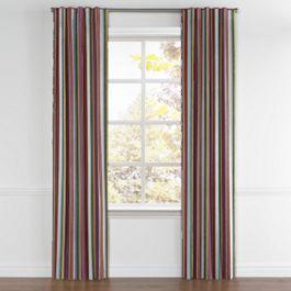 Purple Multicolor Striped Back Tab Curtains Close Up