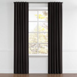 Black Sunbrella® Canvas Back Tab Curtains Close Up