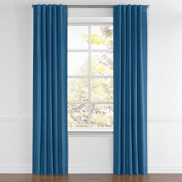 Royal Blue Sunbrella® Canvas Back Tab Curtains Close Up