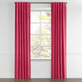 Hot Pink Sunbrella® Canvas Back Tab Curtains Close Up