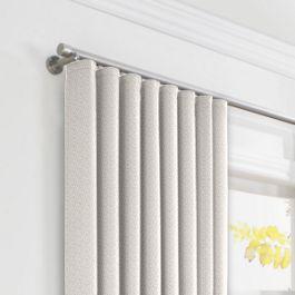 Natural Diamond Weave Ripplefold Curtains Close Up