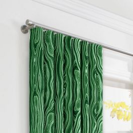Marbled Green Malachite Ripplefold Curtains Close Up