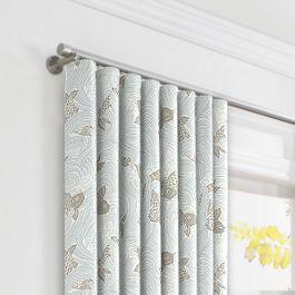 Gray Koi Fish Ripplefold Curtains Close Up