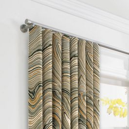 Gold & Black Marble Ripplefold Curtains Close Up