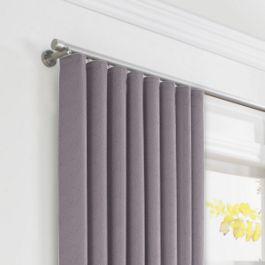 Lavender Gray Velvet Ripplefold Curtains Close Up