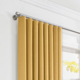 Golden Tan Velvet Ripplefold Curtains Close Up
