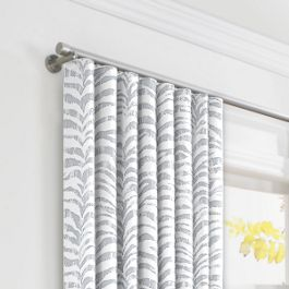 Light Gray Zebra Print Ripplefold Curtains Close Up