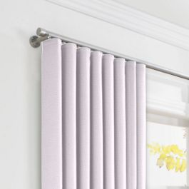 Light Purple Linen Ripplefold Curtains Close Up