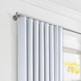 Pale Aqua Linen Ripplefold Curtains Close Up