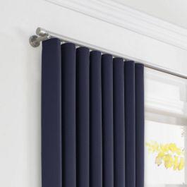 Navy Blue Sunbrella® Canvas Ripplefold Curtains Close Up