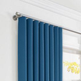 Royal Blue Sunbrella® Canvas Ripplefold Curtains Close Up