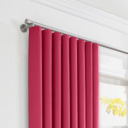 Hot Pink Sunbrella® Canvas Ripplefold Curtains Close Up