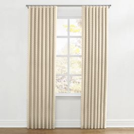 Metallic Gold Dot Ripplefold Curtains Close Up