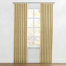 Ivory Medallion Trellis Ripplefold Curtains Close Up