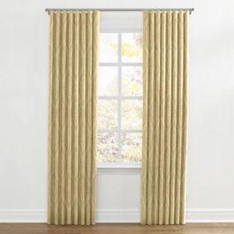 Ivory Medallion Trellis Ripplefold Curtains Close Up