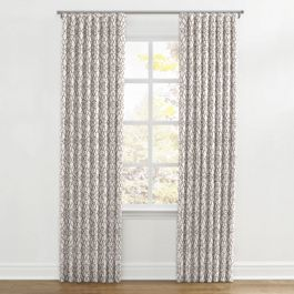 Gray Moroccan Trellis Ripplefold Curtains Close Up