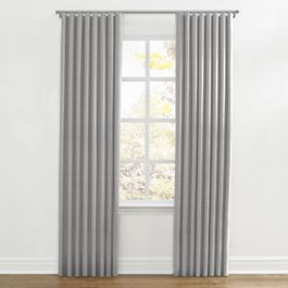 Black Ticking Stripe Ripplefold Curtains Close Up