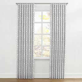 White & Gray Diamond Ripplefold Curtains Close Up