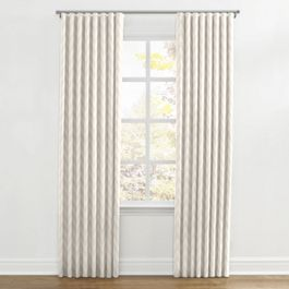 Metallic White & Gold Chevron Ripplefold Curtains Close Up