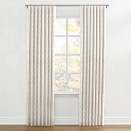 Metallic White & Gold Chevron Ripplefold Curtains Close Up