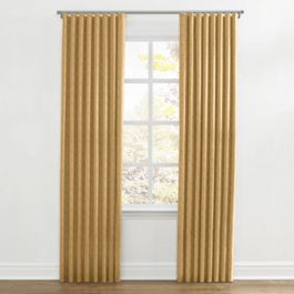Metallic Gold Linen Ripplefold Curtains Close Up