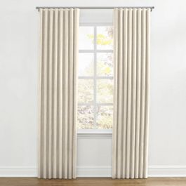 Golden White Metallic Linen Ripplefold Curtains Close Up