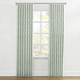 Sea Green Quatrefoil Ripplefold Curtains Close Up