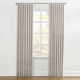 Light Taupe Diamond Ripplefold Curtains Close Up