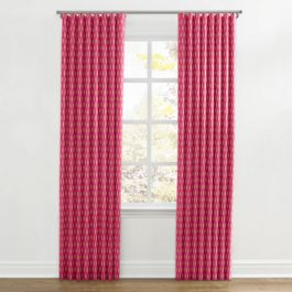 Pink & Orange Diamond Ripplefold Curtains Close Up