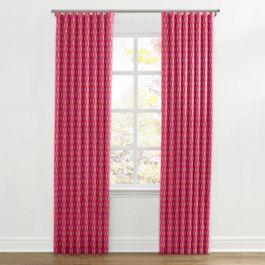 Pink & Orange Diamond Ripplefold Curtains Close Up