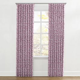 Seafoam & Purple Scallop Ripplefold Curtains Close Up
