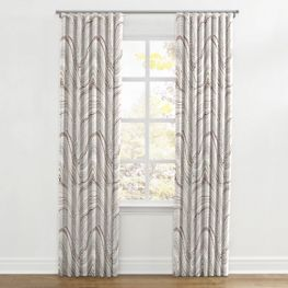 Light Gray Marble Ripplefold Curtains Close Up