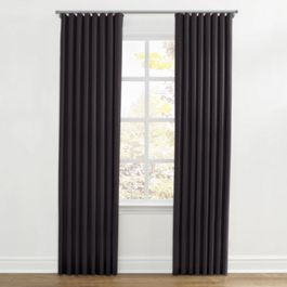 Charcoal Gray Velvet Ripplefold Curtains Close Up