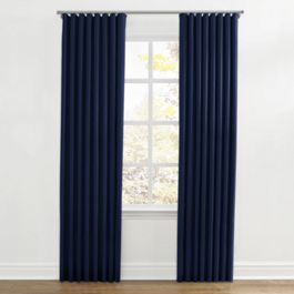 Navy Blue Velvet Ripplefold Curtains Close Up