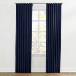 Navy Blue Velvet Ripplefold Curtains Close Up