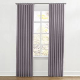 Lavender Gray Velvet Ripplefold Curtains Close Up