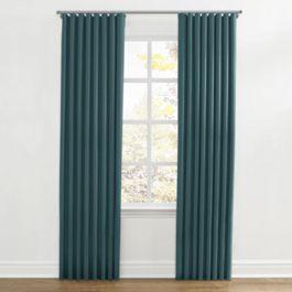 Dark Teal Velvet Ripplefold Curtains Close Up