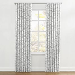 Gray & White Net Ripplefold Curtains Close Up