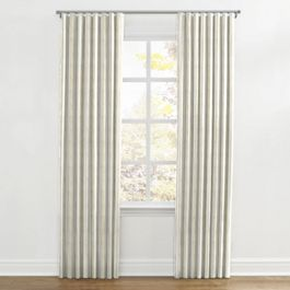 Embroidered Yellow Stripe Ripplefold Curtains Close Up