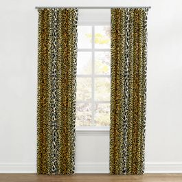 Velvet Leopard Print Ripplefold Curtains Close Up