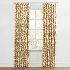 Gold Zebra Print Ripplefold Curtains Close Up