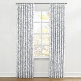 Light Gray Zebra Print Ripplefold Curtains Close Up