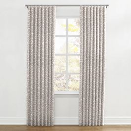 Gray & White Leopard Print Ripplefold Curtains Close Up
