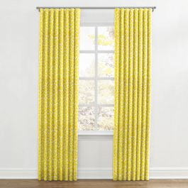 Yellow Leopard Print Ripplefold Curtains Close Up
